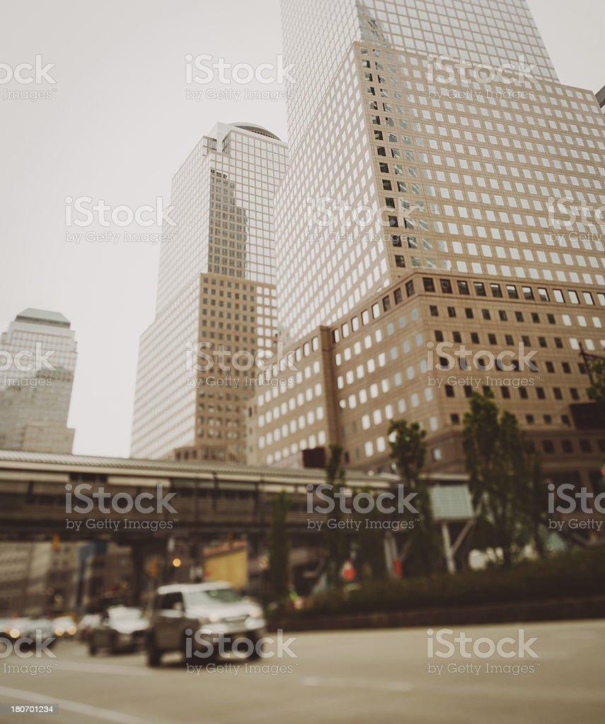 NY City Traffic, Tilt Shift royalty-free stock photo