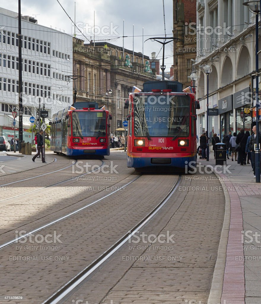 City trams stock photo