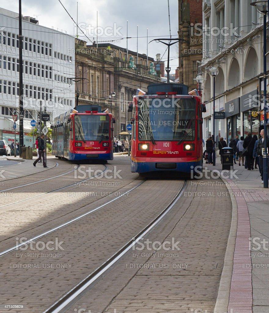 City trams stock photo