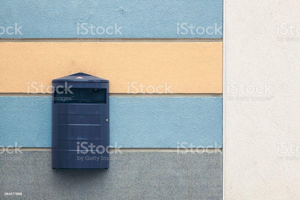 City trashcan stock photo
