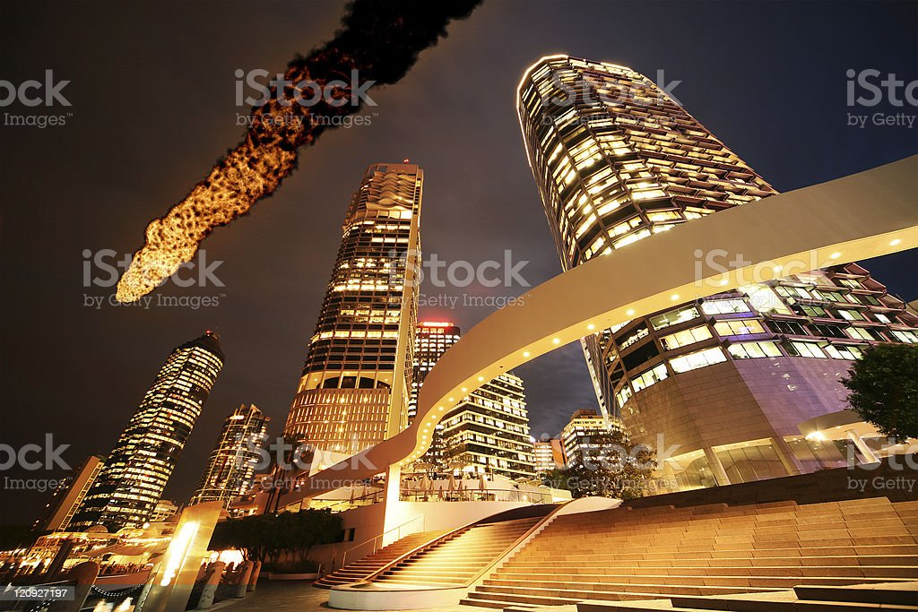City Under Fire royalty-free stock photo
