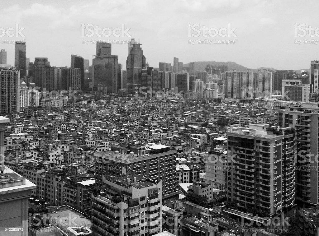 City urban sprawl in China stock photo
