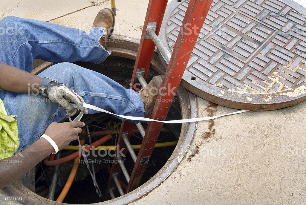 City Utility Worker stock photo