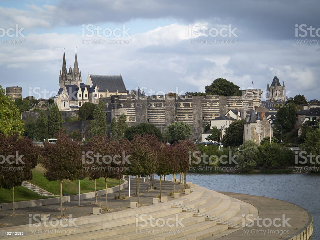 City view, Angers, France stock photo