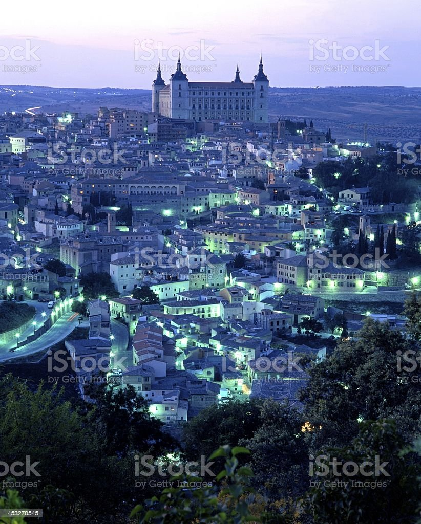 City view at dusk, Toledo, Spain. royalty-free stock photo