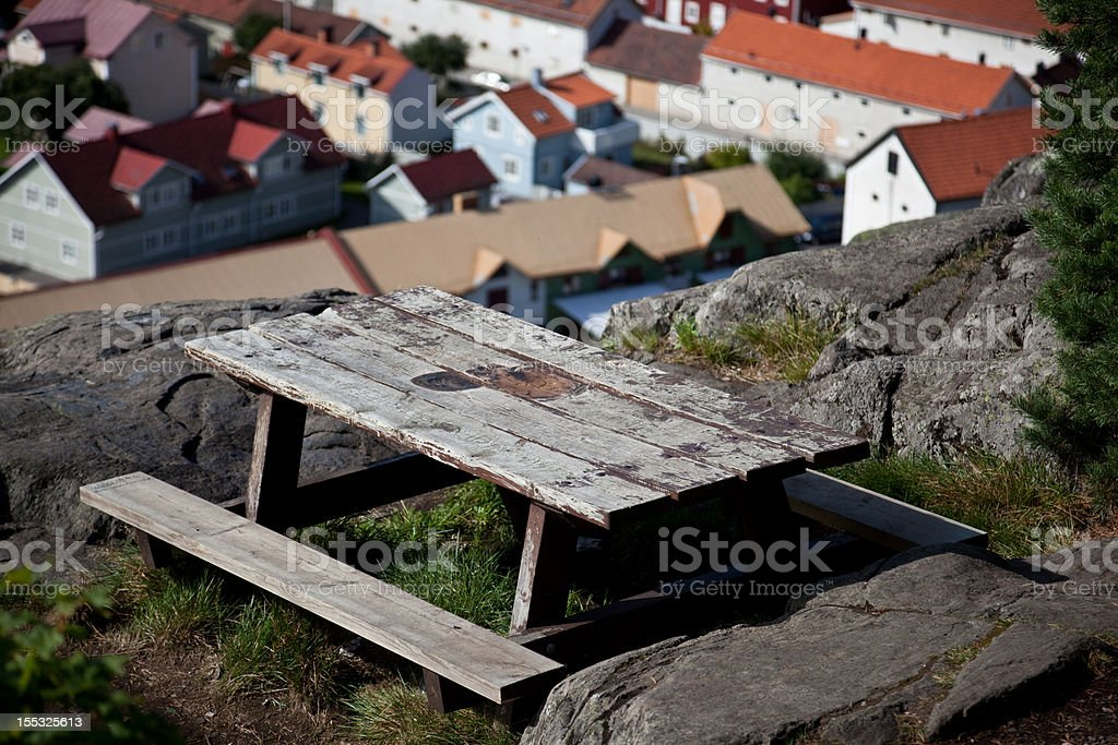 City view bench royalty-free stock photo