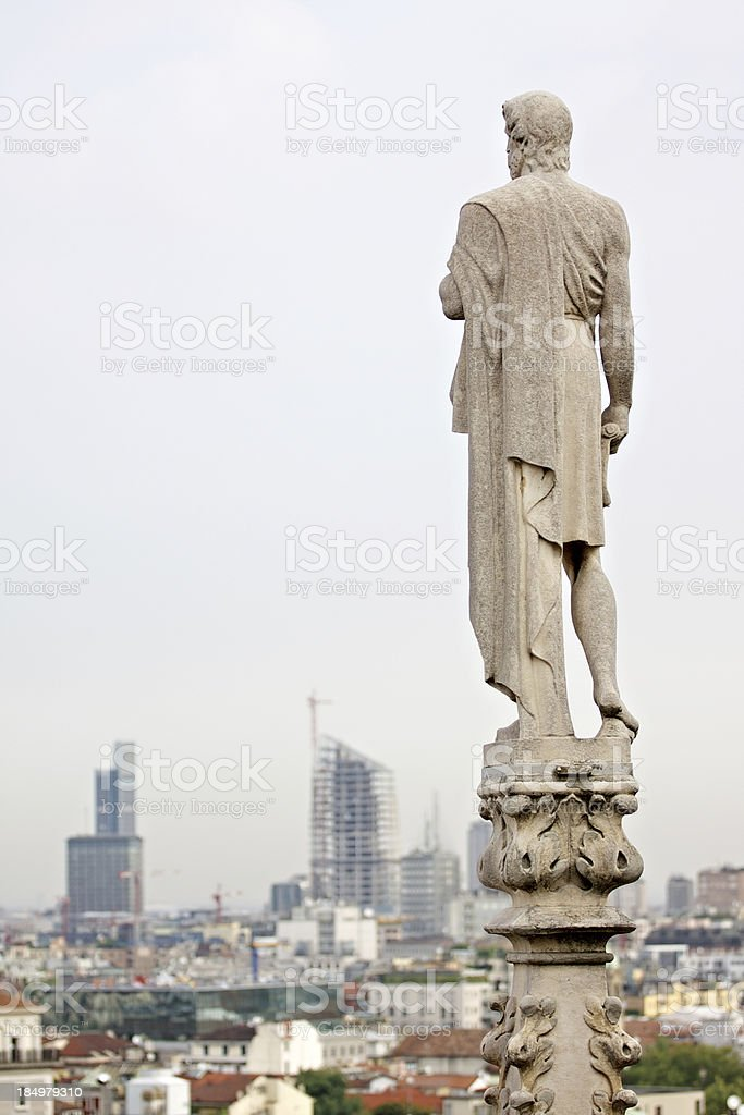 "City view from above Milan Cathedral (""Duomo di Milano""). Italy. stock photo"