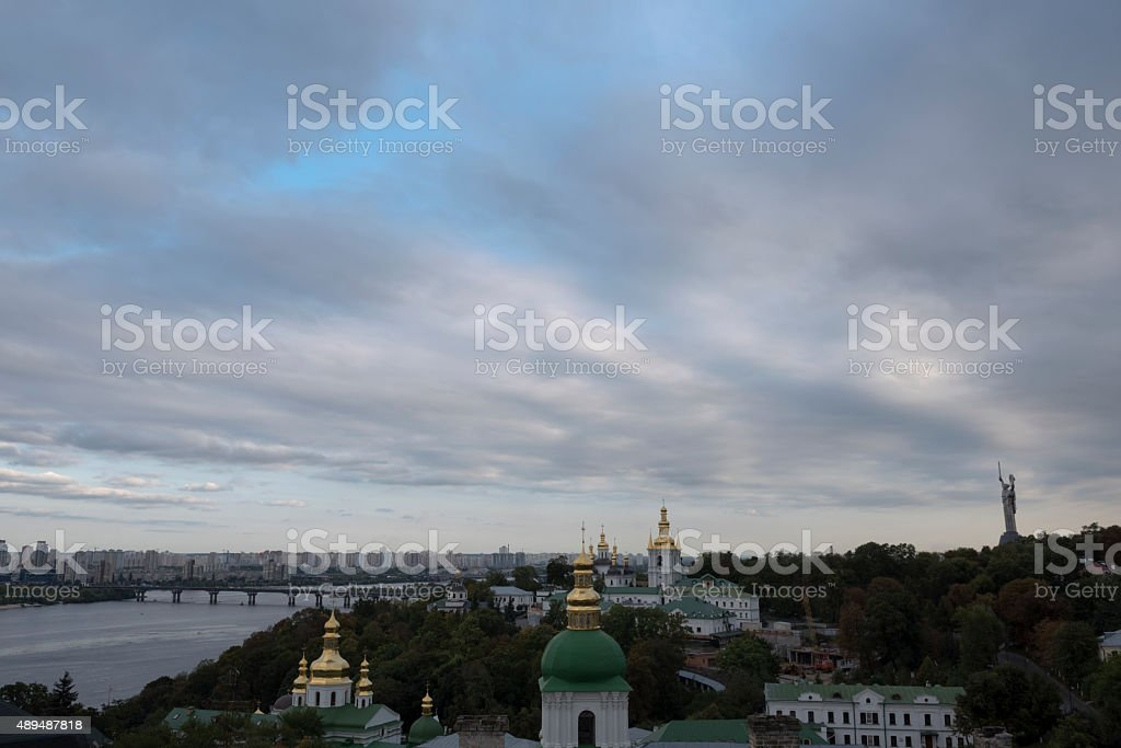 City view from the Lavra in Kiev, Ukraine stock photo