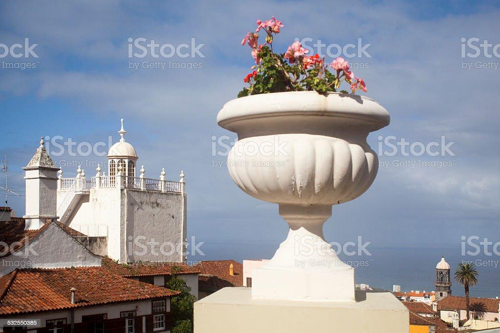 City view in La Orotava, Tenerife, Spain stock photo