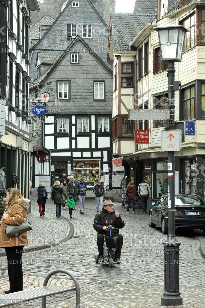 City view in Monschau stock photo