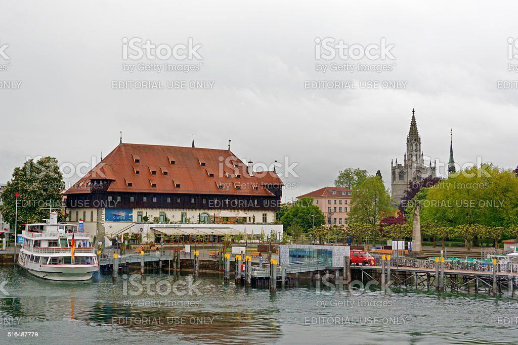 City view of Constance stock photo