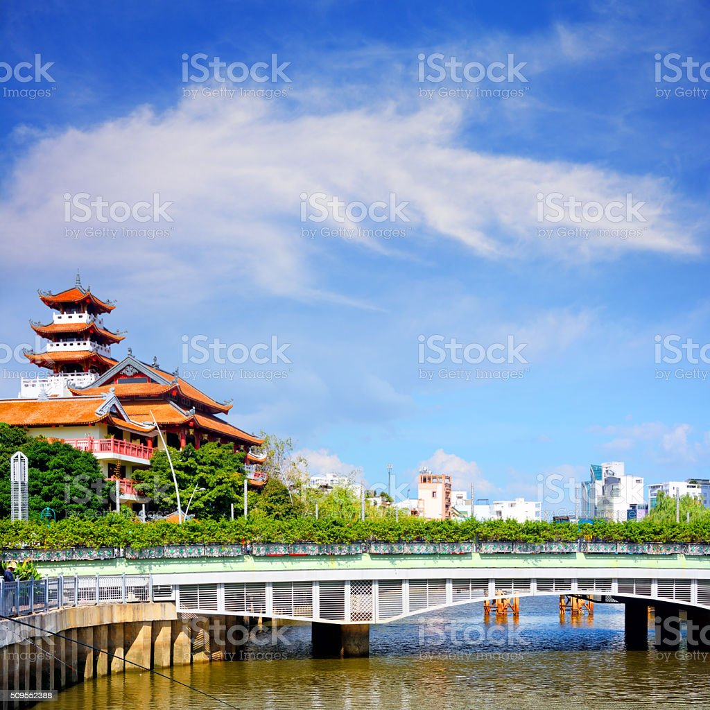 City view of Ho chi minh stock photo