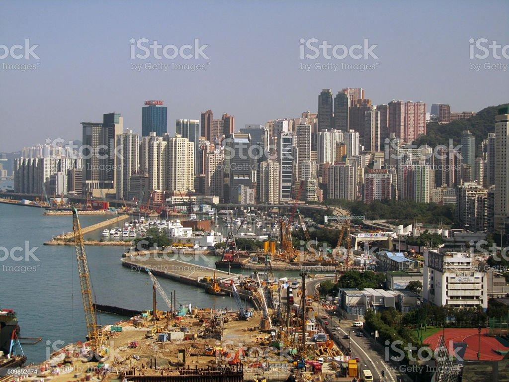 City view of Hong Kong stock photo