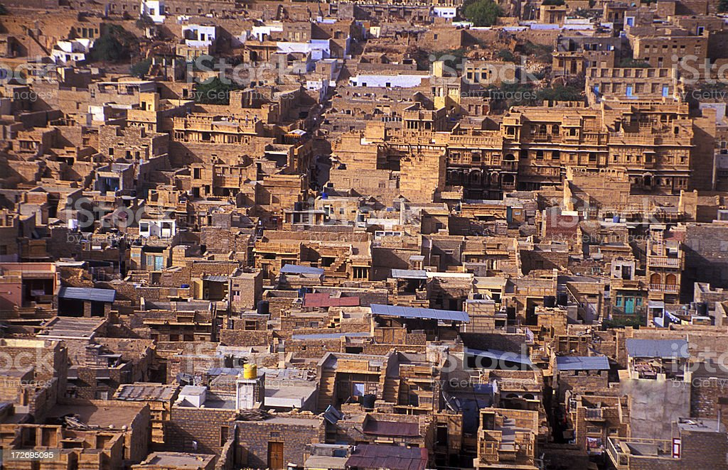 City view of Jaisalmer, India stock photo