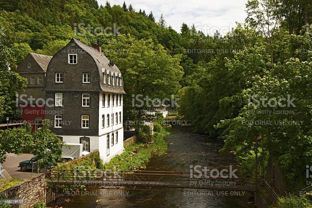 City View of Monschau stock photo