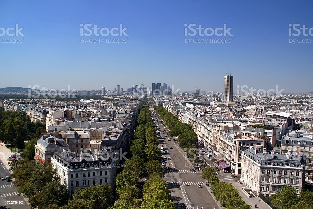 City View of Paris on Summer Day, France stock photo