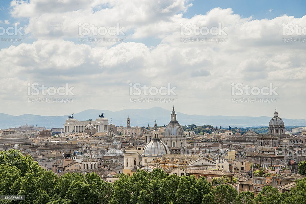 City view of Rome, Italy during the day stock photo