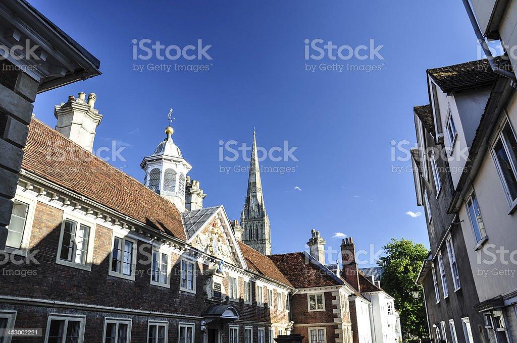 City view of Salisbury, UK stock photo