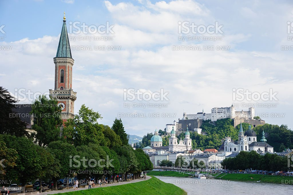 City View of Salzburg, Austria royalty-free stock photo