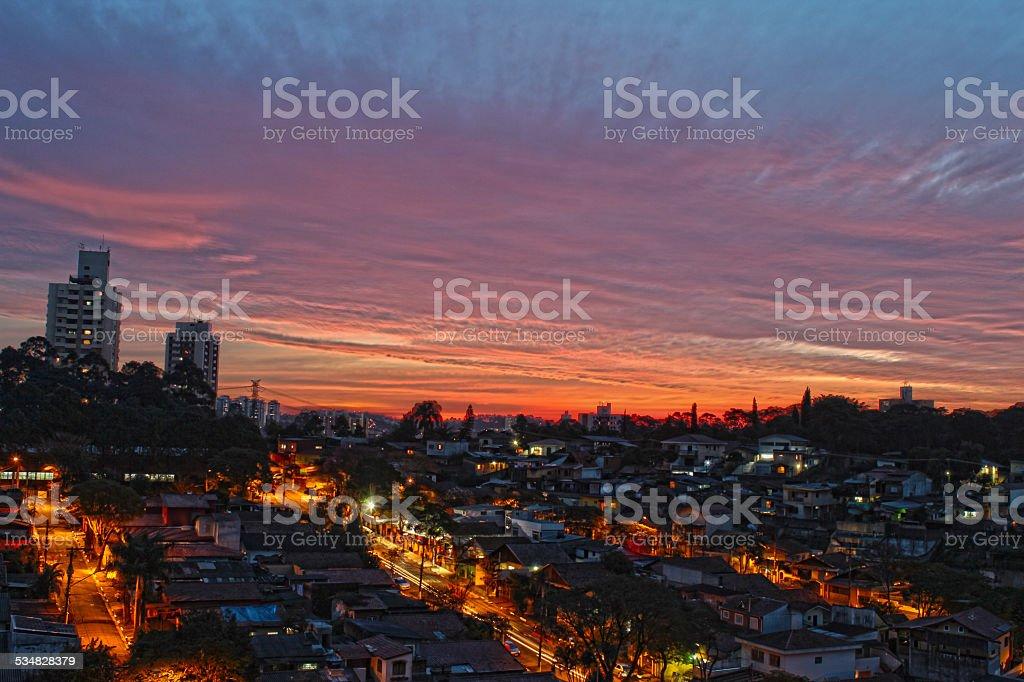 City view of São Paulo. stock photo