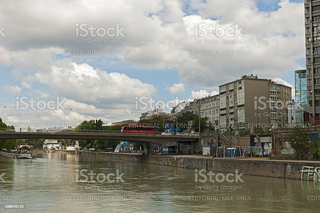 City view of the Danube channel royalty-free stock photo