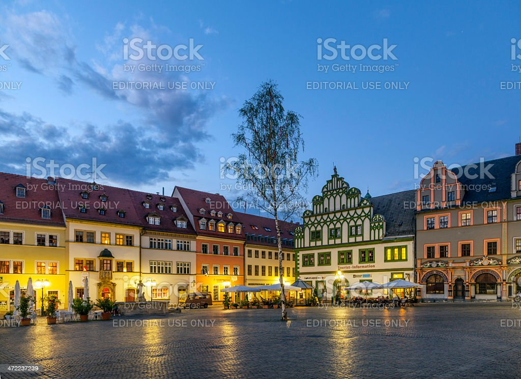 City view of Weimar, a city in Thuringia (Germany) stock photo