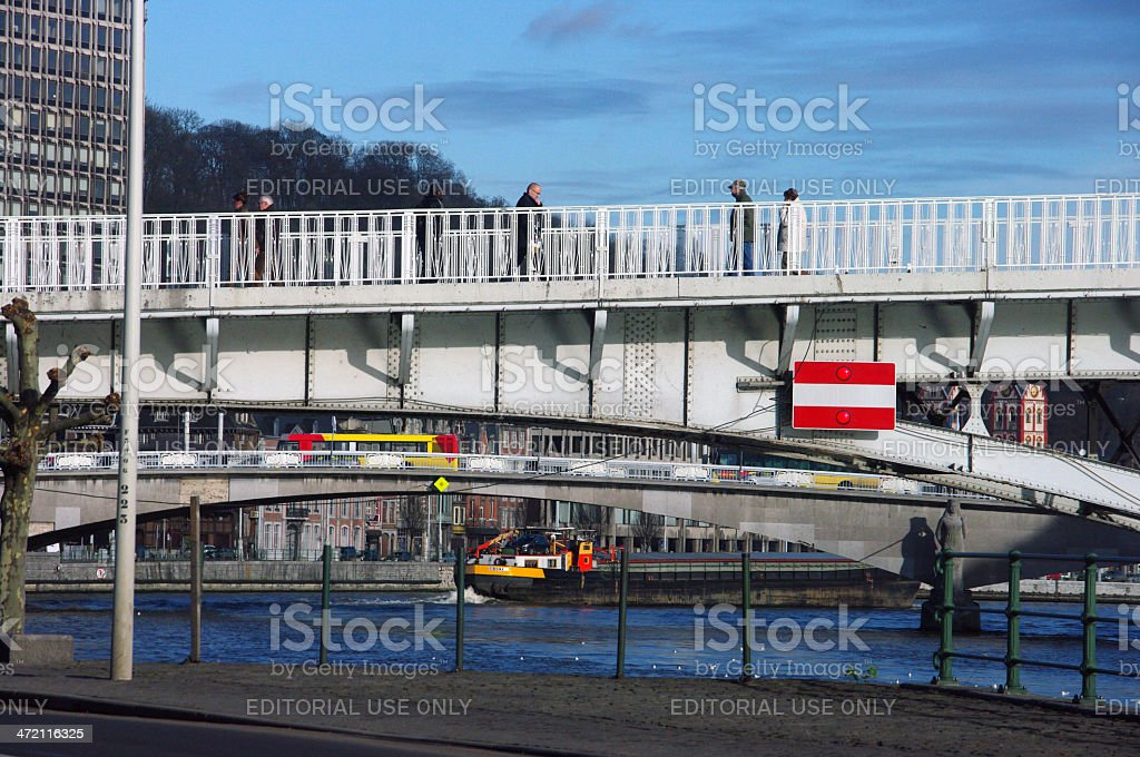 City view over Liege royalty-free stock photo