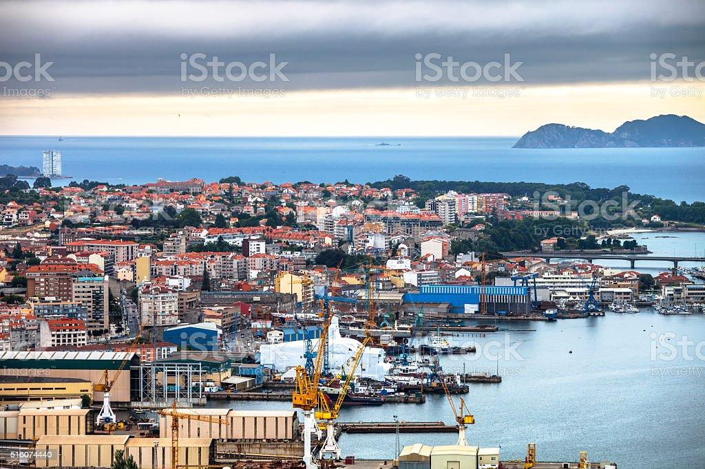 City view. Vigo, Spain. stock photo