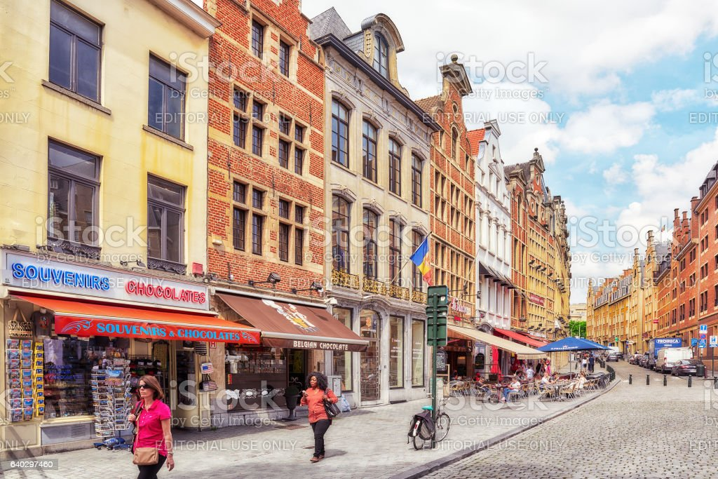 City views cozy European cities - Brussels stock photo