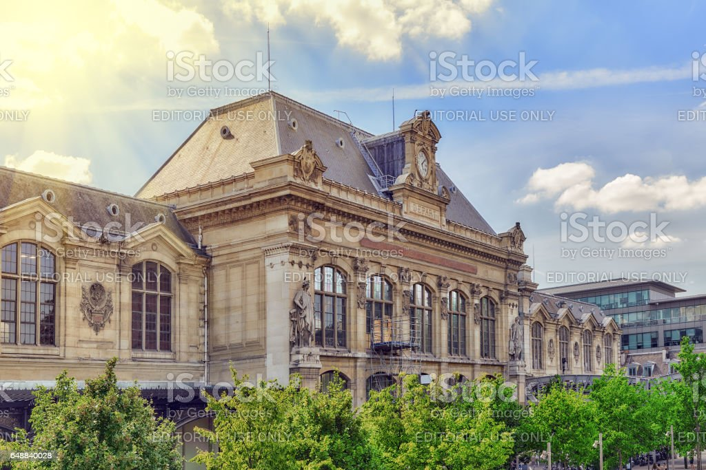 City views of one of the most beautiful cities in the world - Paris. Austerlitz Train Station in Paris. stock photo