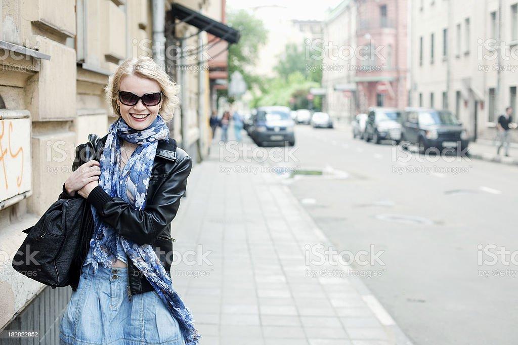 City walk royalty-free stock photo