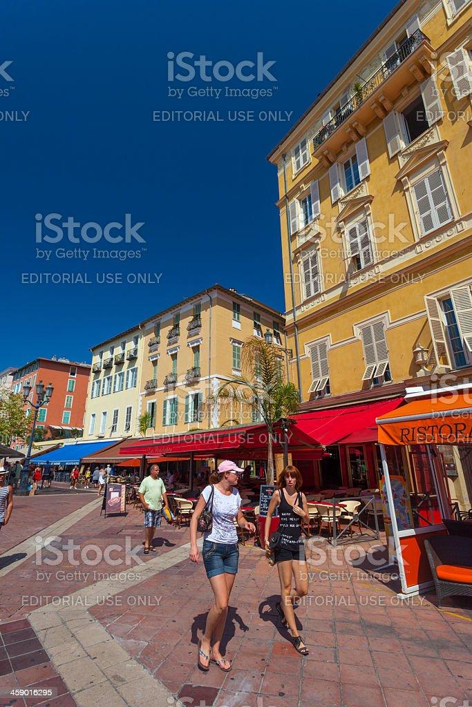 City walkway in Nice, France stock photo