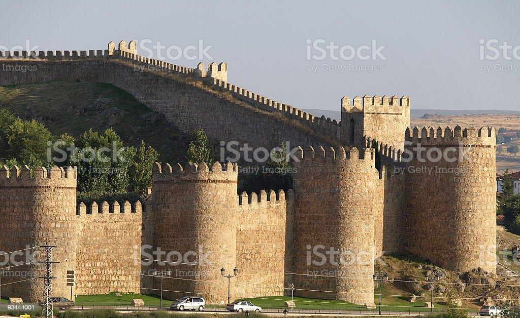 City wall at Ávila, Spain stock photo