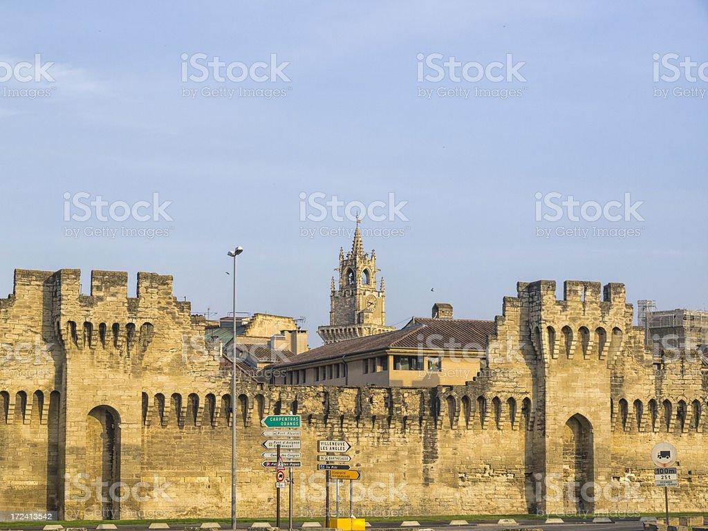 City Wall - Avignon royalty-free stock photo