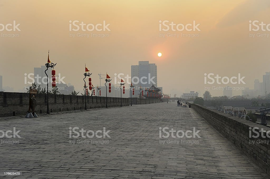 City wall in Xi'an royalty-free stock photo