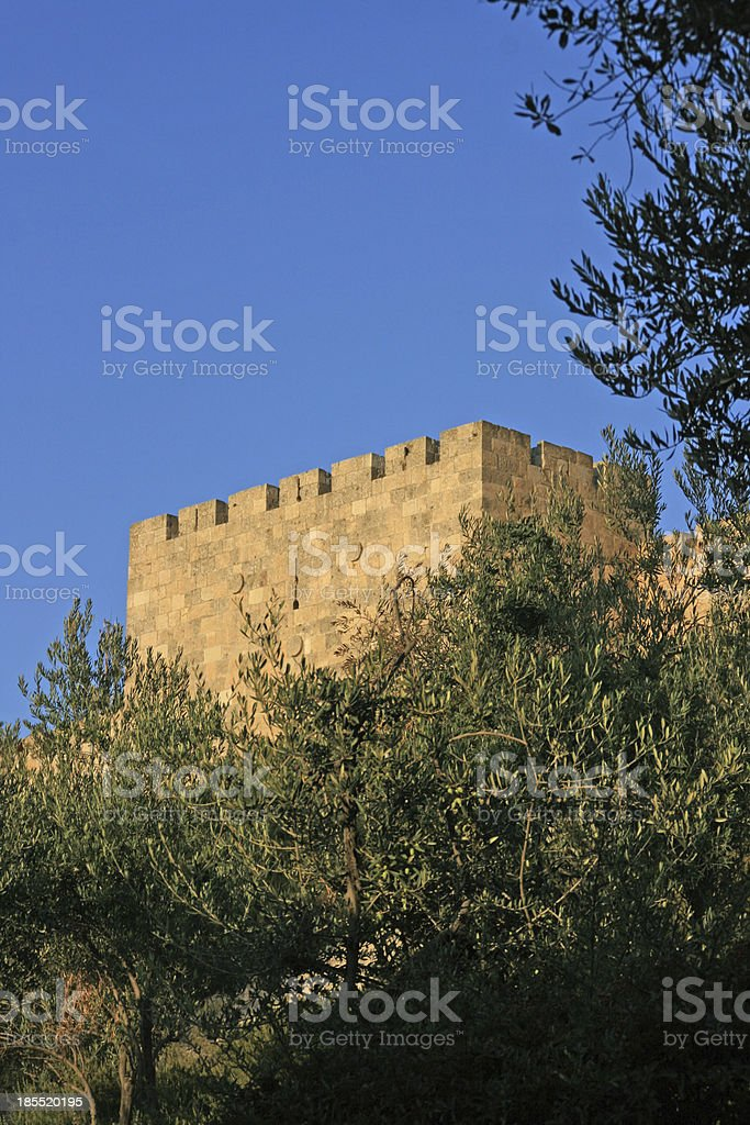 City wall of Old Jerusalem, Israel. royalty-free stock photo