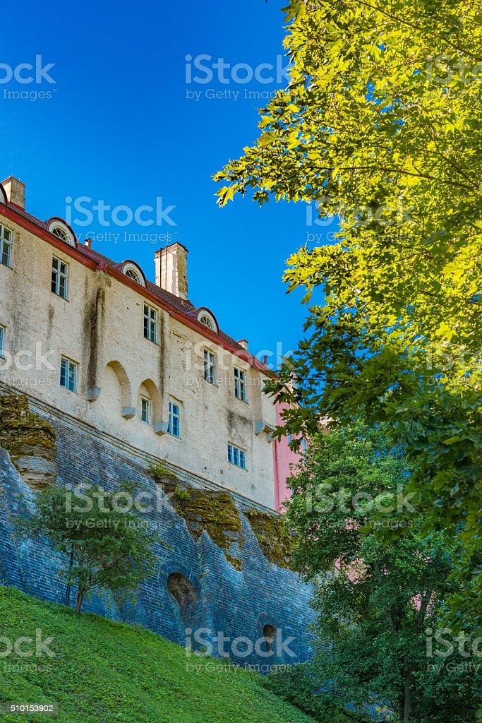 City Wall of Tallinn stock photo