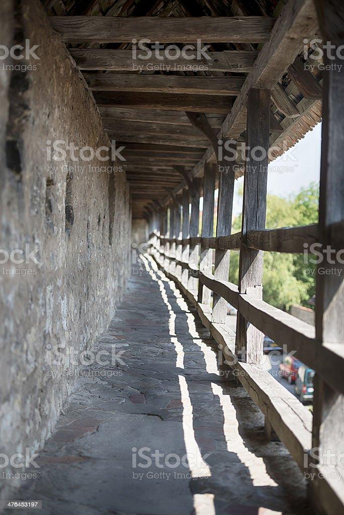 City Wall Rothenburg ob der Tauber royalty-free stock photo