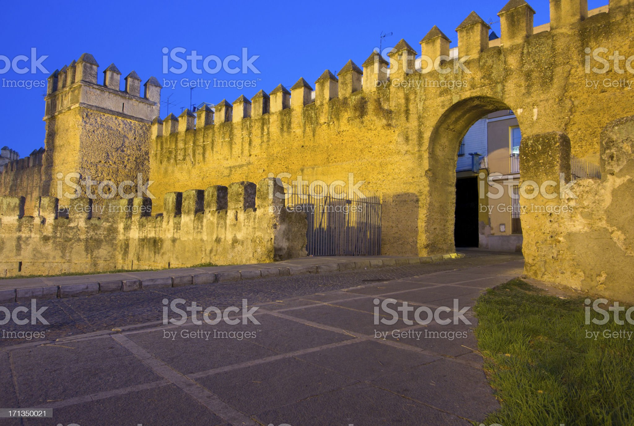 City Walls in Seville, Spain royalty-free stock photo