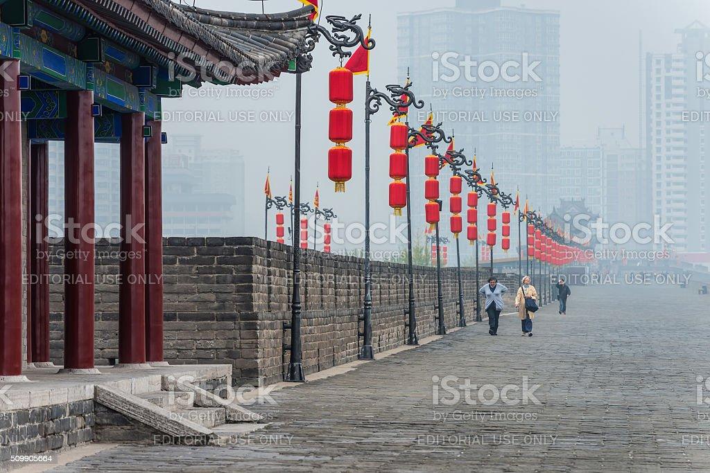 City Walls of Xian stock photo
