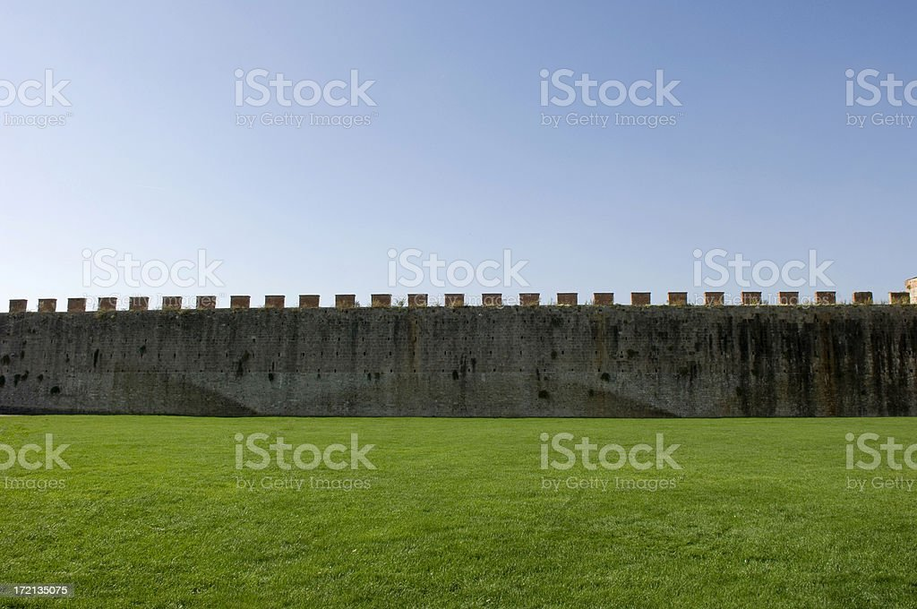 city walls, Pisa, Italy stock photo