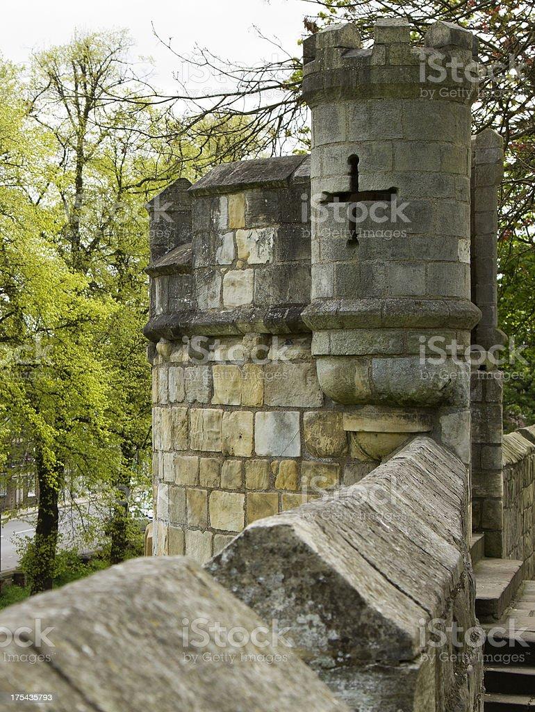 City walls York stock photo