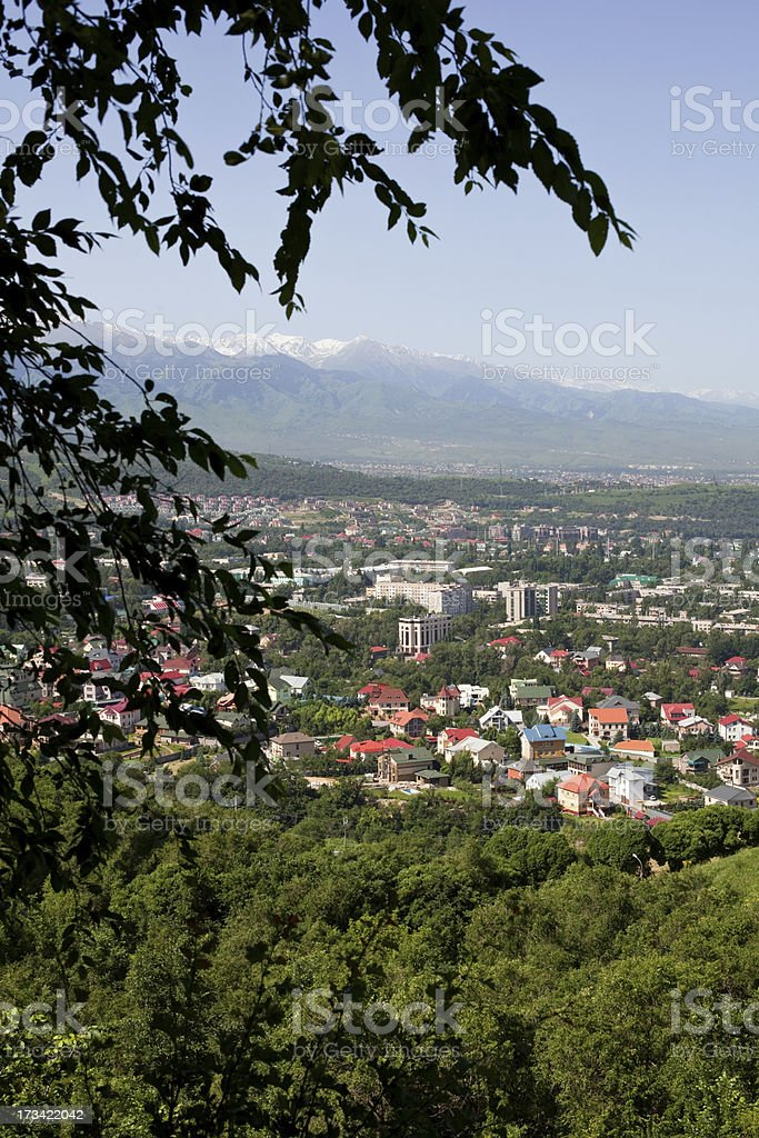 city ?€‹?€‹with a bird's eye view royalty-free stock photo
