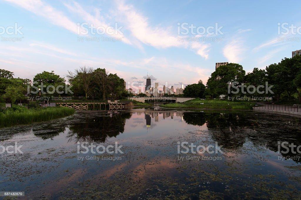 City Within Nature stock photo