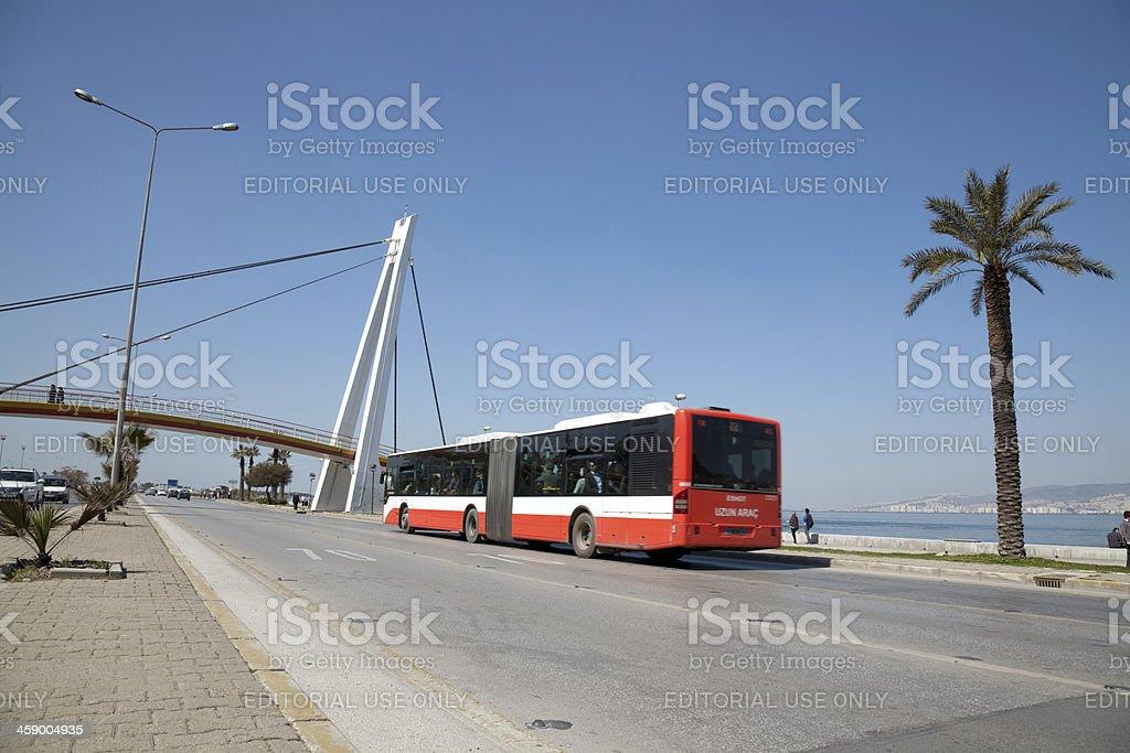 citybus in izmir seaside royalty-free stock photo