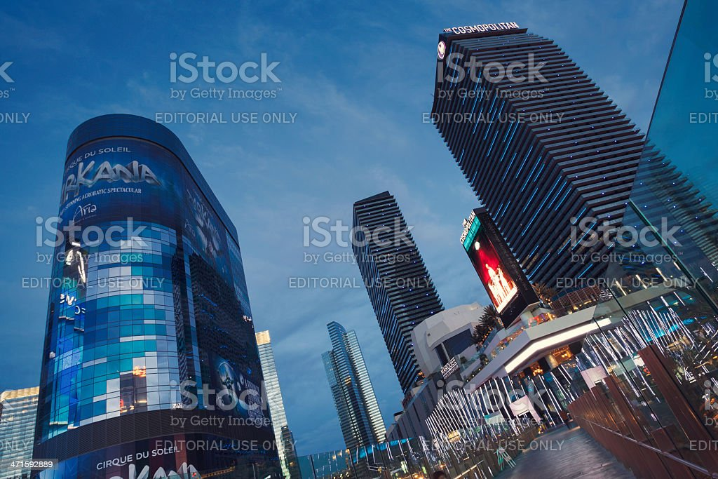 CityCenter by night royalty-free stock photo