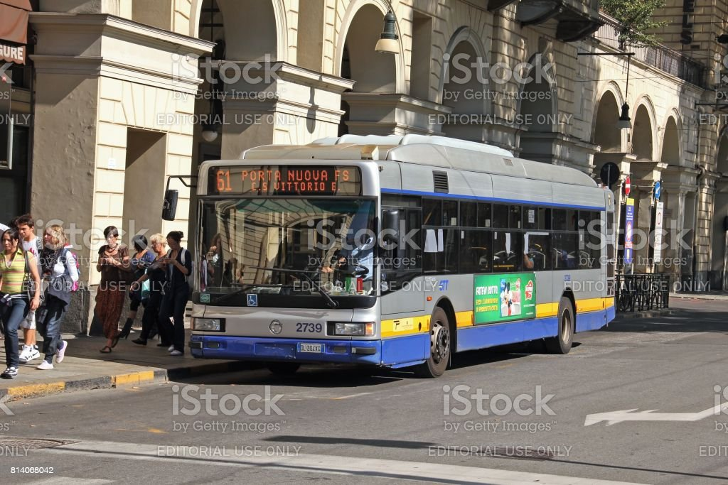 IVECO CityClass CNG on the street in Turin stock photo