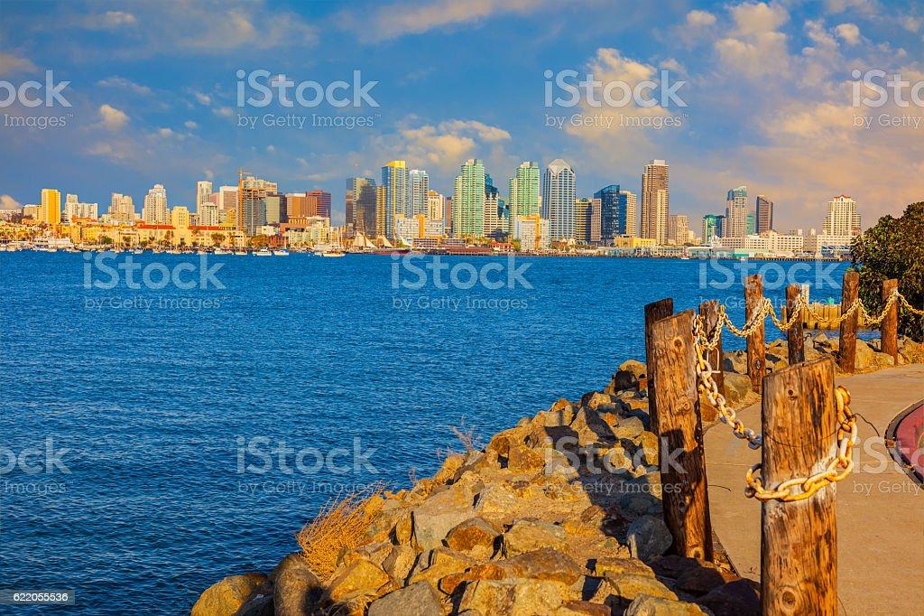 Citydcape of San Diego skyline, California stock photo