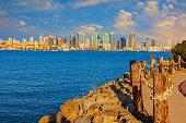 Citydcape of San Diego skyline, California