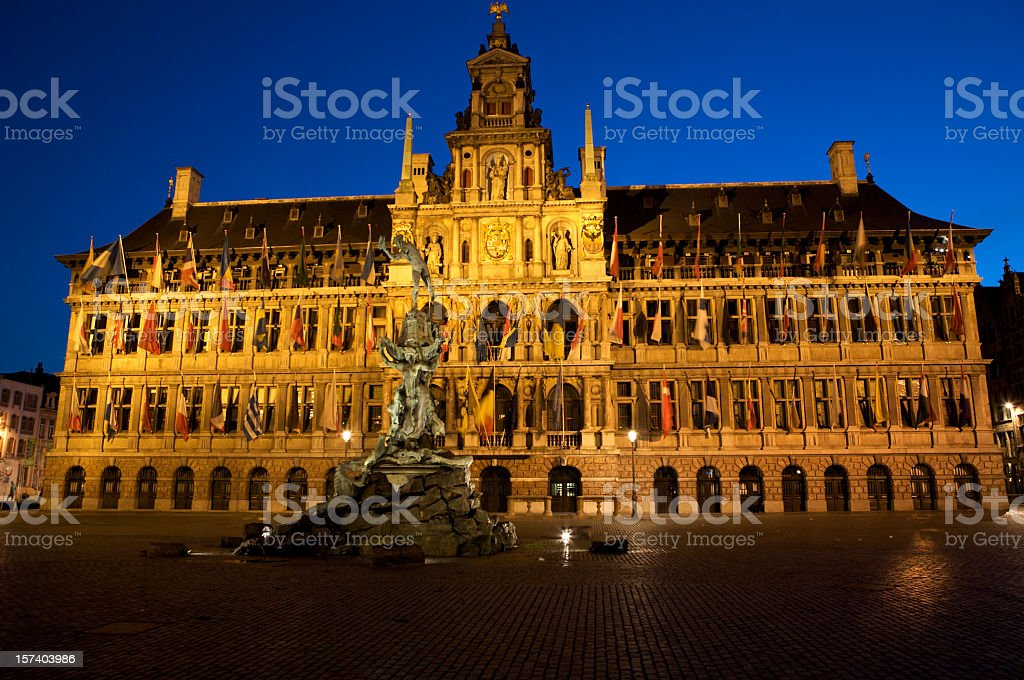 City-Hall from Antwerp royalty-free stock photo